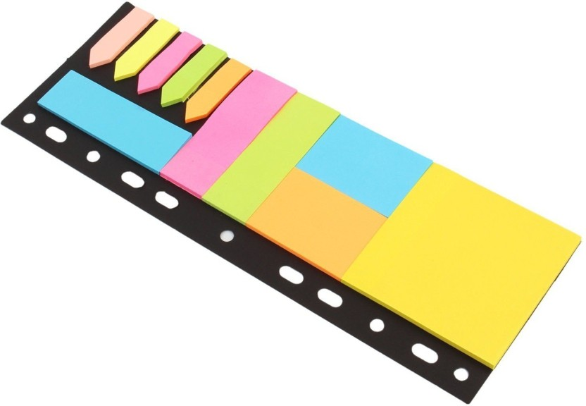 PINZO Sticky Notes & Page Markers Binder Pack, 150 Assorted Size Notes - 150 Sheets 125 Page Markers, 26 x 9.5cm, 5 Colors