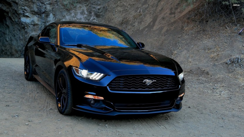 Athah 2015 Ford Mustang in the dust Poster Paper Print