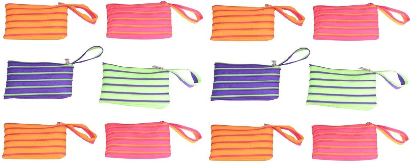 CSM Combo Of 12 Multipurpose Zip Pouch Pouch