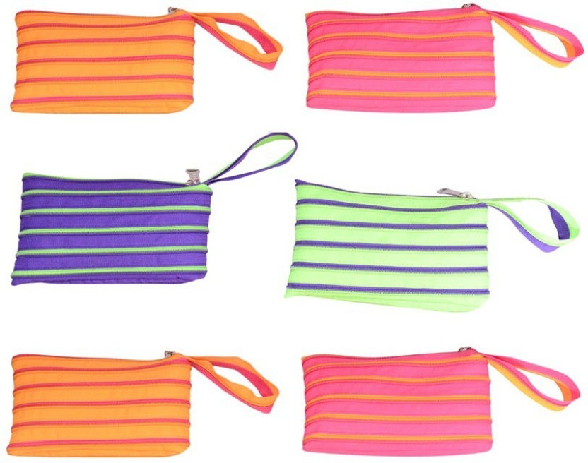 CSM Combo Of 6 Multipurpose Zip Pouch Pouch