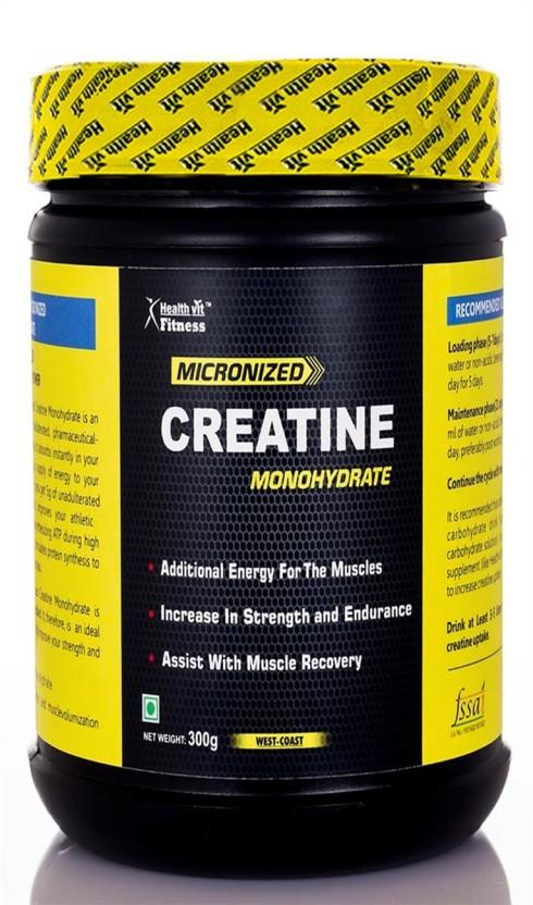 HealthVit Micronized Creatine Powder - 300 g (Unflavored) Creatine