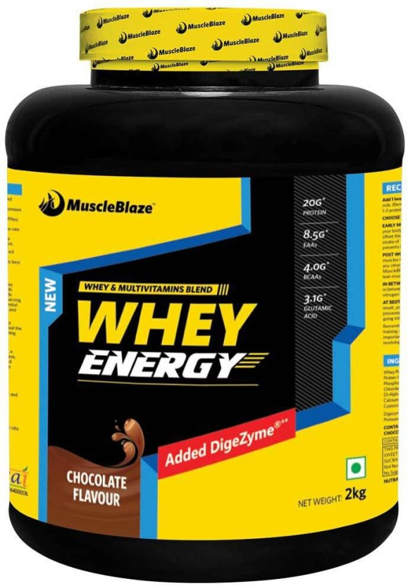 MuscleBlaze Whey Energy (Blend of Whey and Multivitamins with Digestive Enzyme) Whey Protein