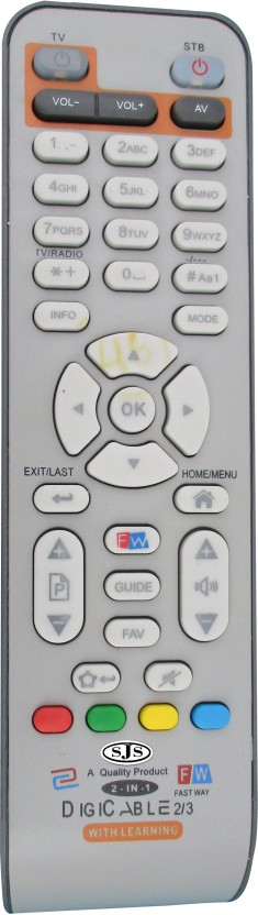 SJS Digicable / Fastway ⅔ With Learing Set Top Box Remote Controller