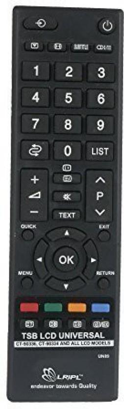 Toshiba Remote Controller Radhikacomnet Universal REMOTE Compatible for Toshiba LCDLED Remote Controller