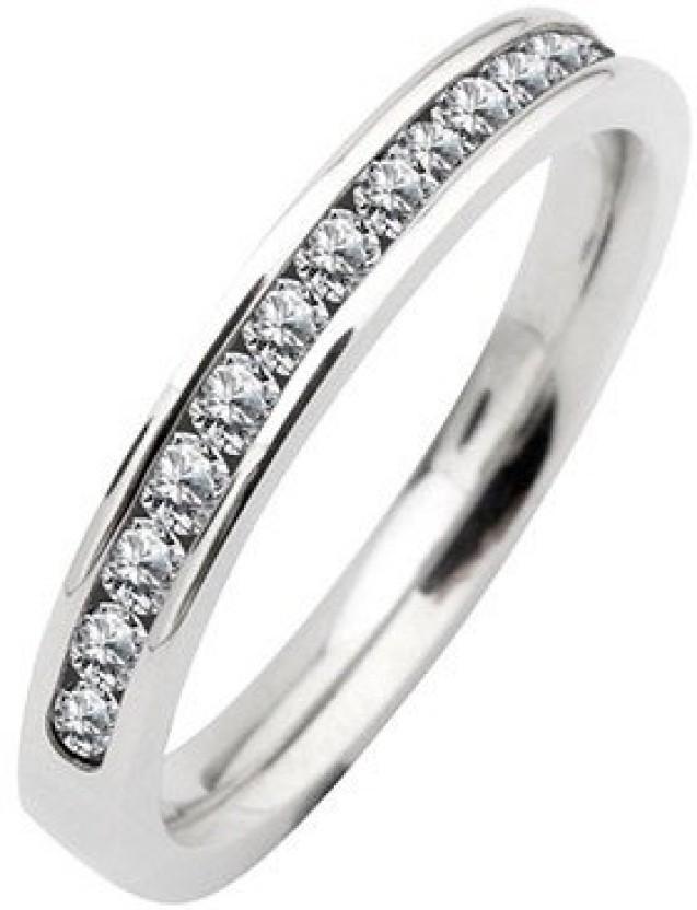 Inox Jewelry Large Eternity Stainless Steel Ring