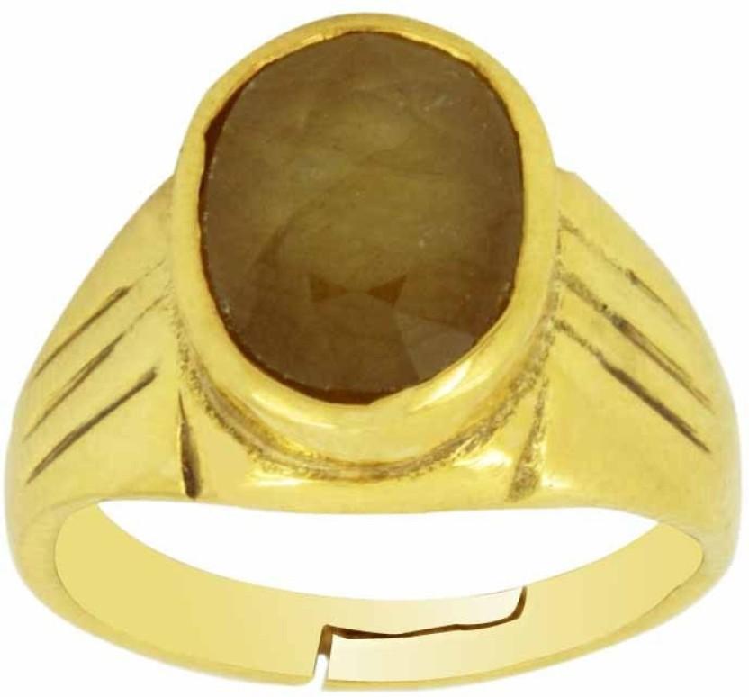 Avaatar 6 Carat Panchdhatu Bello Metal Sapphire Ring