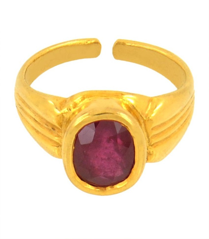 Avaatar 4 Carat Bello Panchdhatu Metal Ruby Ring