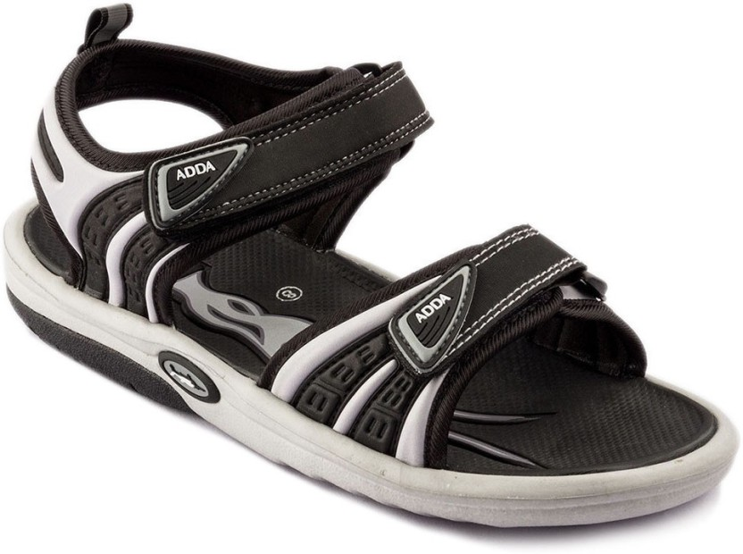 Adda Men Black Grey Sandals