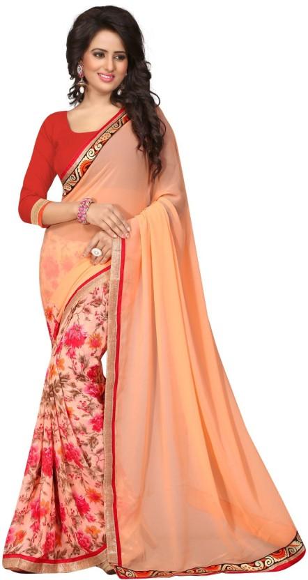 Sargam Fashion Floral Print, Self Design Bollywood Georgette Saree