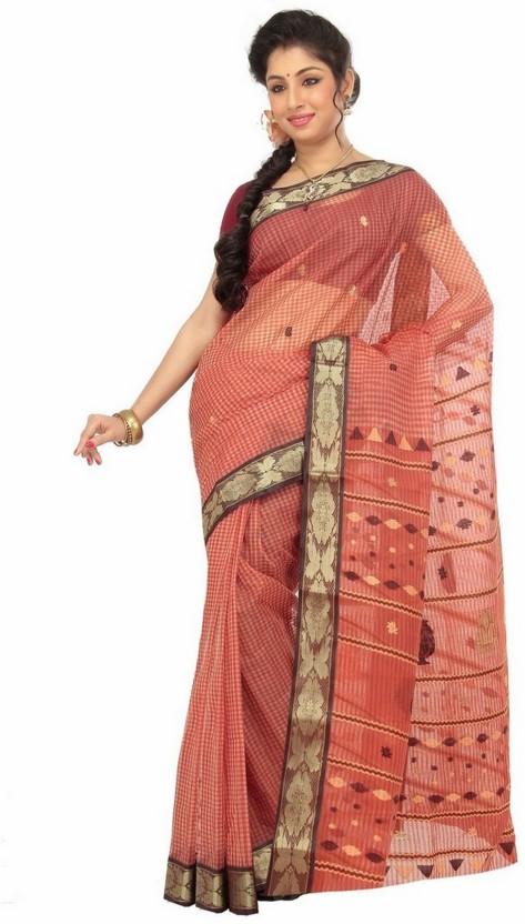 Indianbeauty Printed Fashion Handloom Cotton Saree