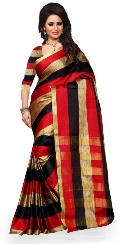 Style U Self Design Chanderi Poly Silk Saree