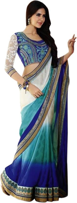 Sargam Fashion Embroidered Bollywood Jacquard Saree