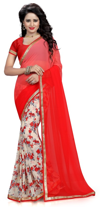 Dream Beauty Fashion Printed Daily Wear Georgette Saree