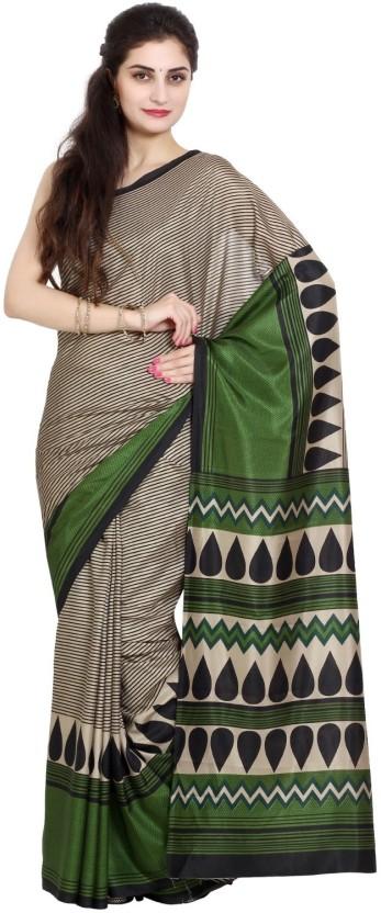 Aryahi Printed Fashion Raw Silk Saree