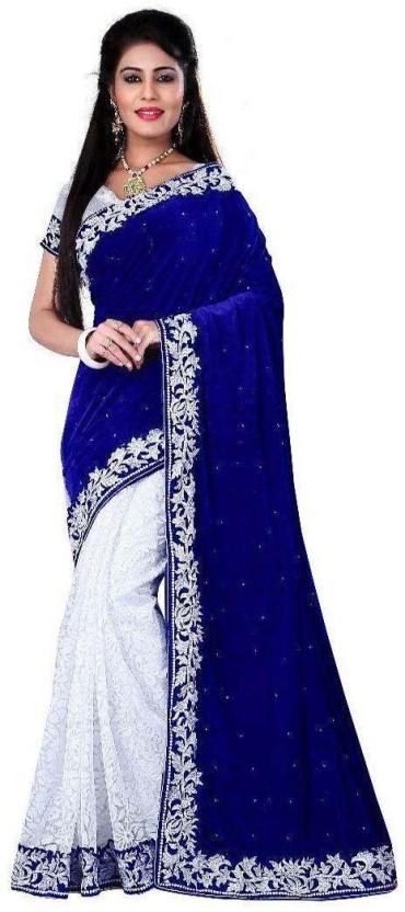 V J Fashion Self Design, Embellished Bollywood Handloom Velvet, Net, Kota Cotton Saree