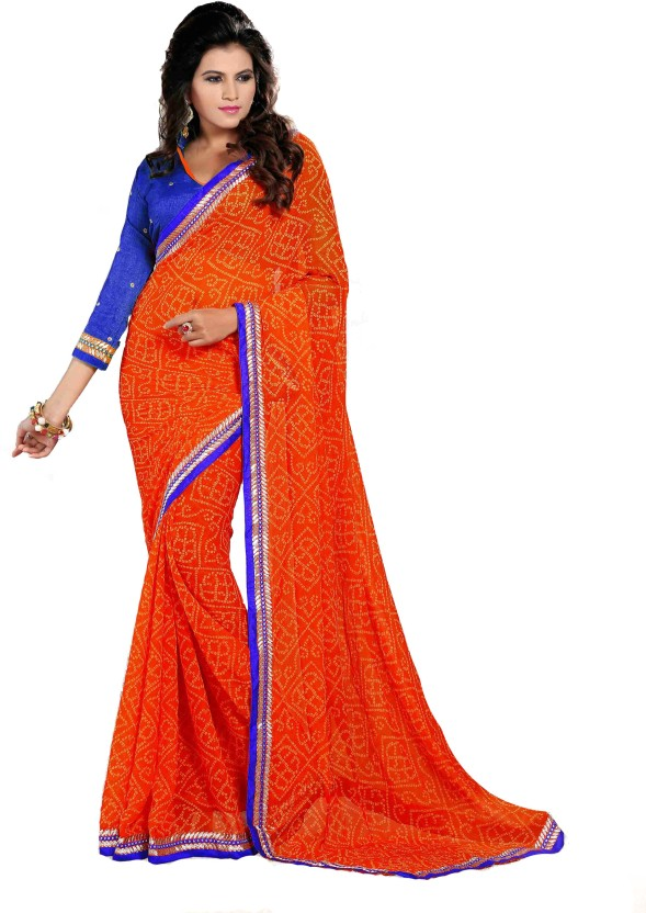 Oomph! Printed Fashion Chiffon Saree