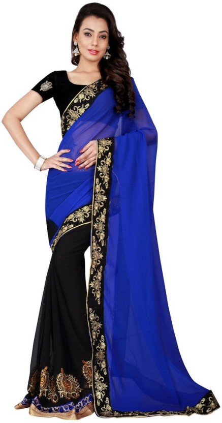 Sargam Fashion Embroidered Bollywood Georgette Saree