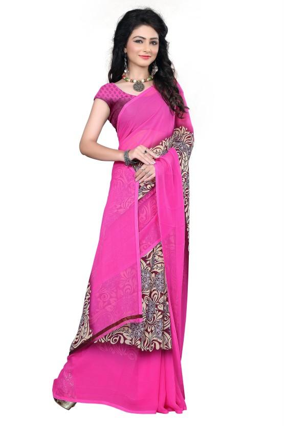 M.S.Retail Printed Fashion Chiffon Saree