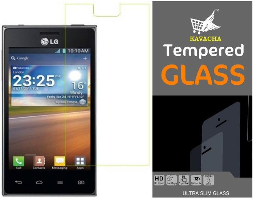 Kavacha Tempered Glass Guard for LG Optimus L5 Dual E615