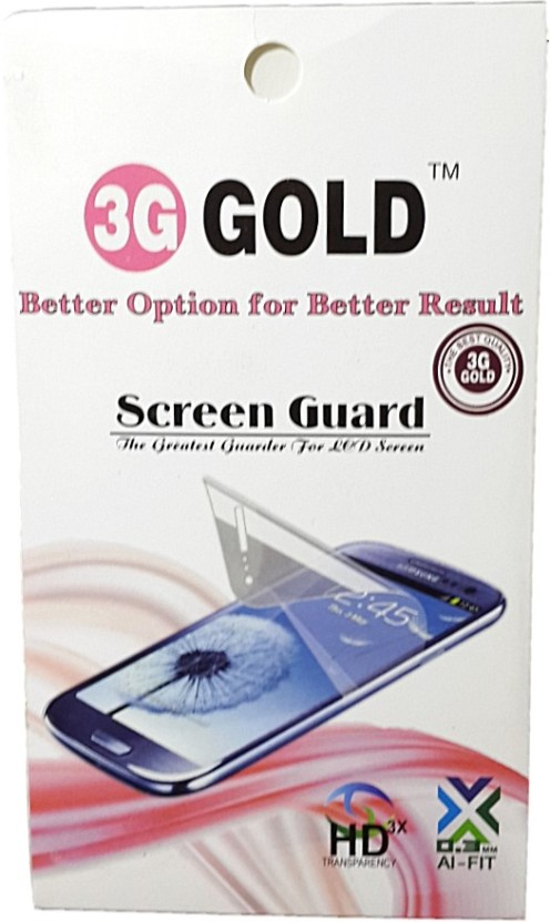 3G Gold Screen Guard for Micromax Bolt A27