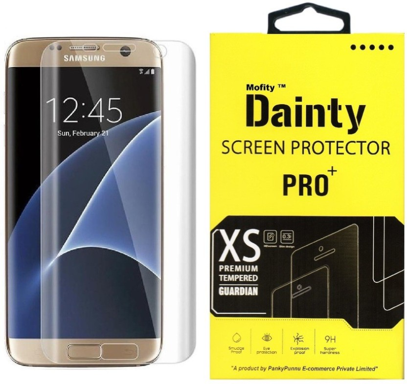 Dainty Tempered Glass Guard for Samsung Galaxy S6 Edge Plus (5.7 inch) (Full Screen Coverage)