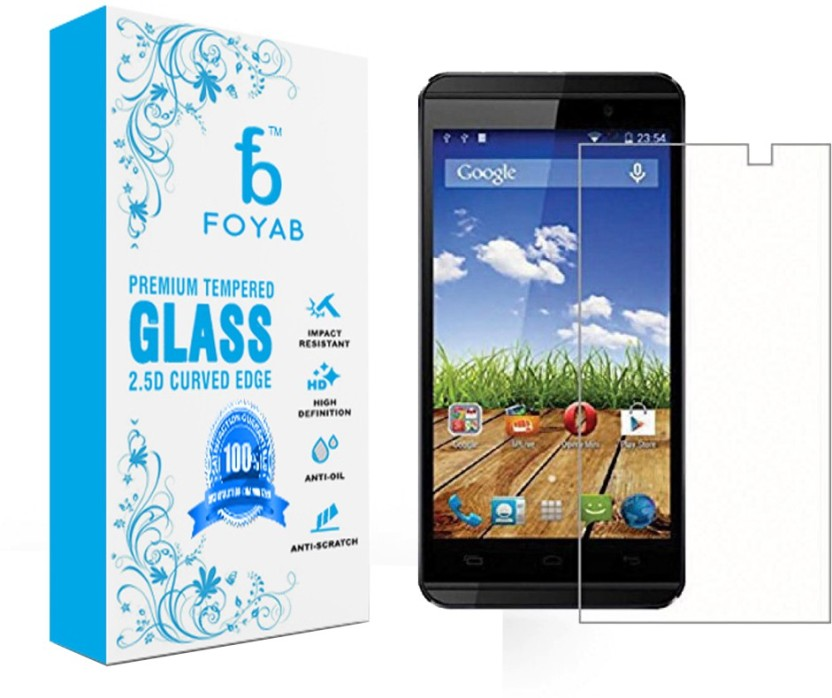 Foyab Tempered Glass Guard for Micromax A104 Canvas Fire 2