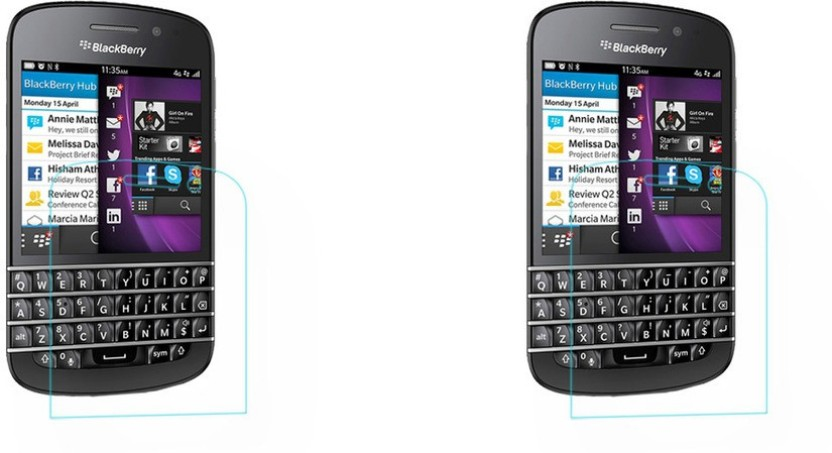 ACM Tempered Glass Guard for Blackberry Q10 (Pack Of 2)