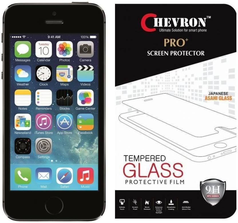 Chevron Tempered Glass Guard for Apple iPhone 5S, Apple iPhone 5SE