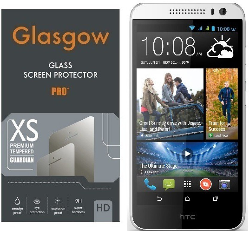 Glasgow Tempered Glass Guard for HTC Desire 616