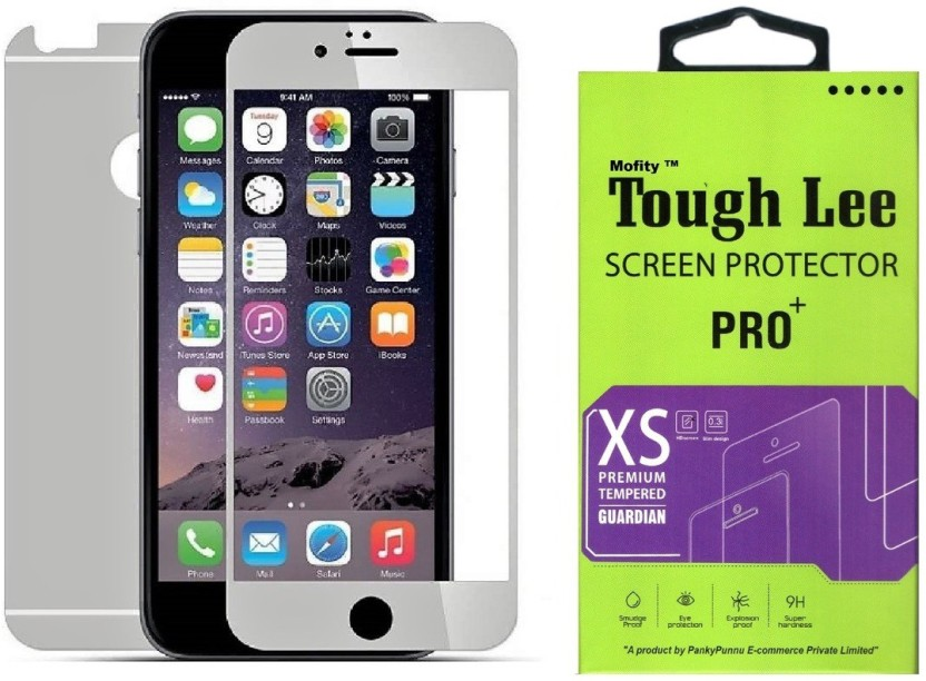 Tough Lee Tempered Glass Guard for Apple Iphone 5s (4 inch, Matte Silver) (Front and Back)