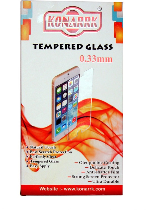 KONARRK Tempered Glass Guard for Micromax Canvas 2 Colours A120