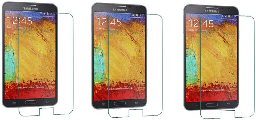 ACM Tempered Glass Guard for Samsung Galaxy Note 3 N9000 (Pack of 3)