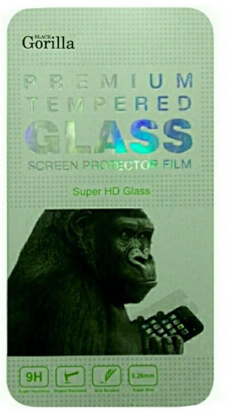 BLACK GORILLA Tempered Glass Guard for Micromax Canvas Fire A093