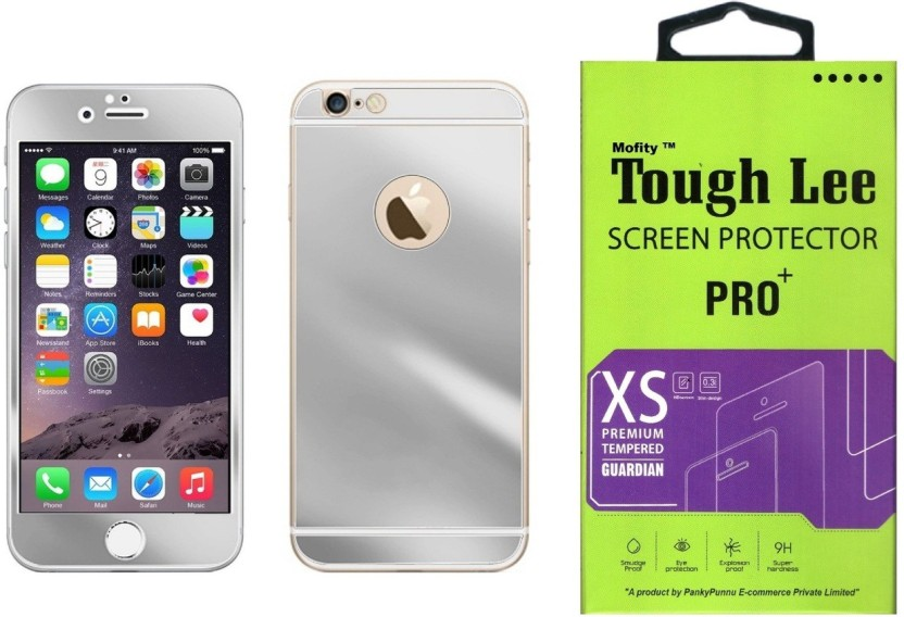 Tough Lee Tempered Glass Guard for Apple Iphone 6 Plus (5.5 inch, Silver) (Front and Back)