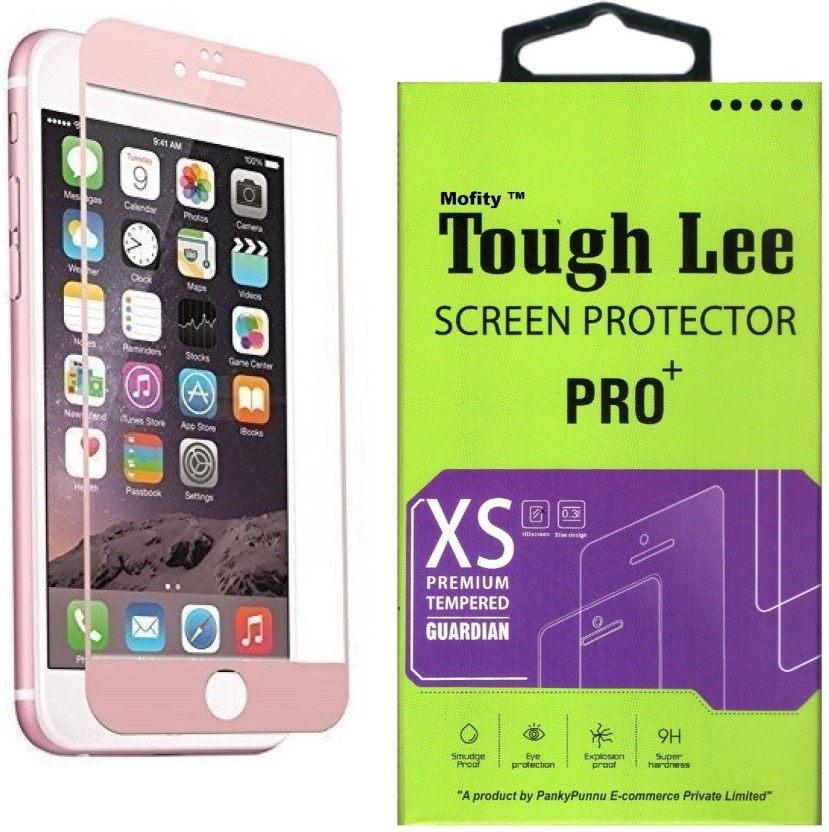 Dainty Tempered Glass Guard for Apple Iphone 6 Plus (5.5 inch, Matte Black) (Front and Back)