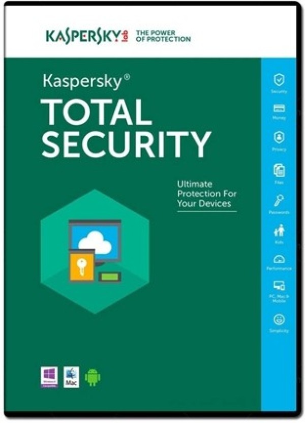 KASPERSKY 1Pc 1Year Total Security 2017