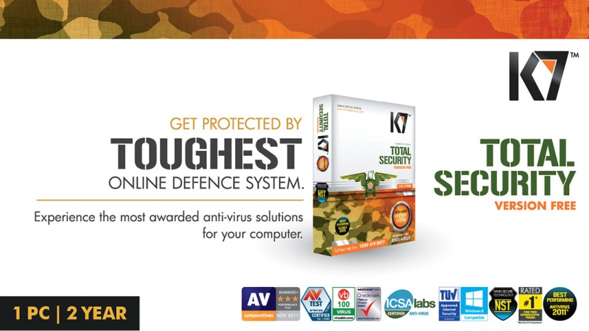 K7 Total Security 1 PC 2 Year (Activation card)