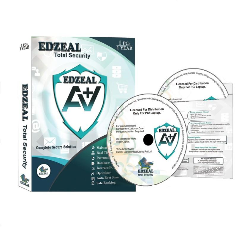 Edzeal Antivirus Total Security 10 PC 1 Year Edzeal Antivirus Total Security