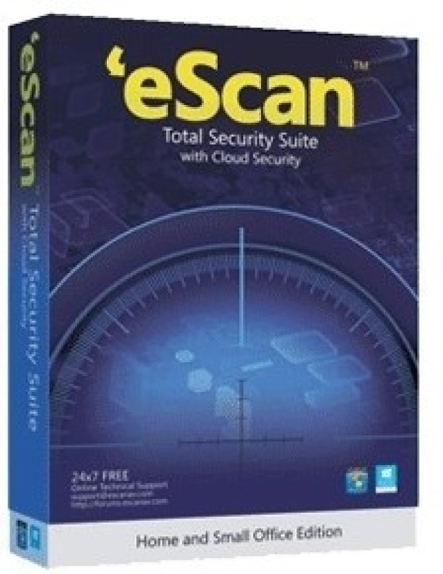 eScan Total Security Suite with Cloud Security 2 User 1 Year