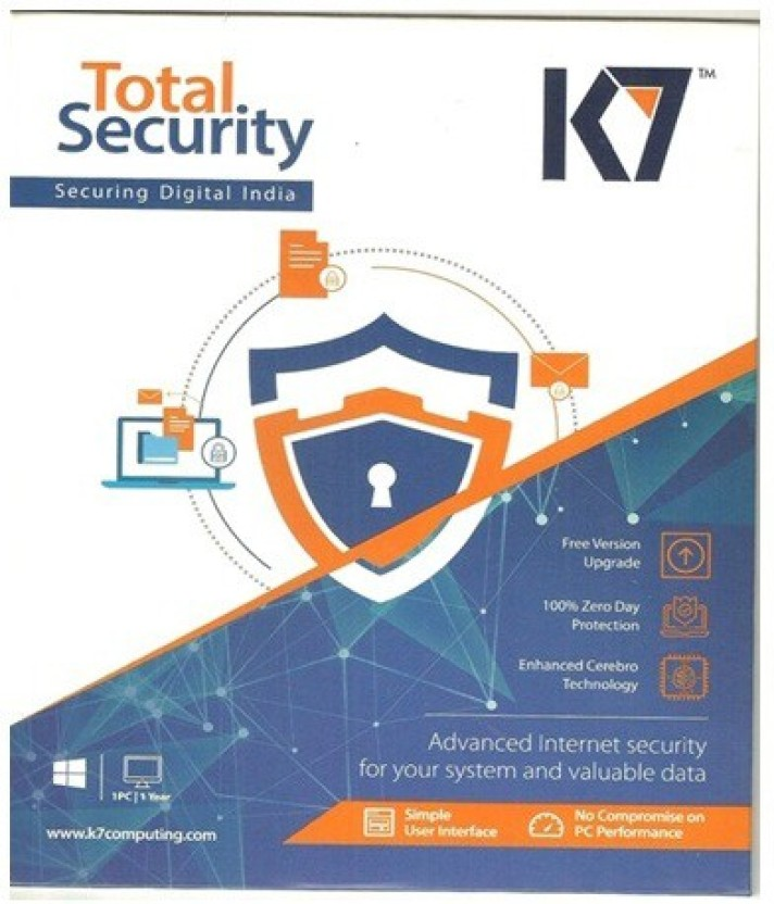 K7 Total Security 2017 1 Pc 1Year New Slim Pack