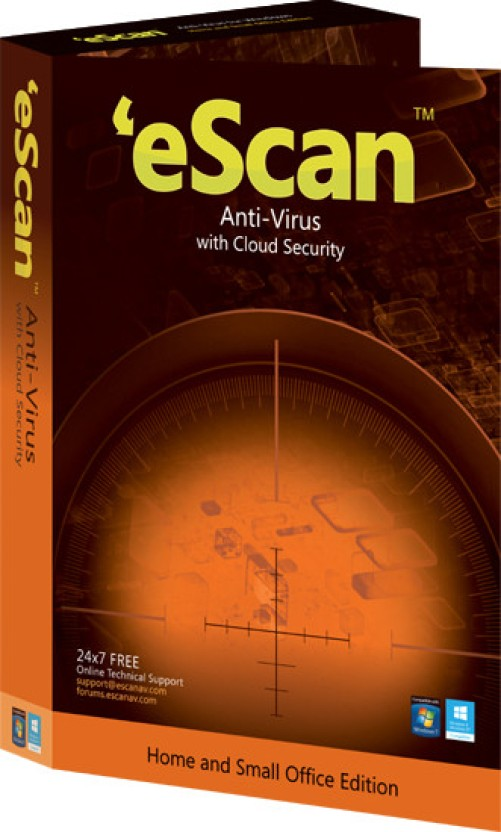 eScan Anti Virus with Cloud Security 2 PC 1 Year