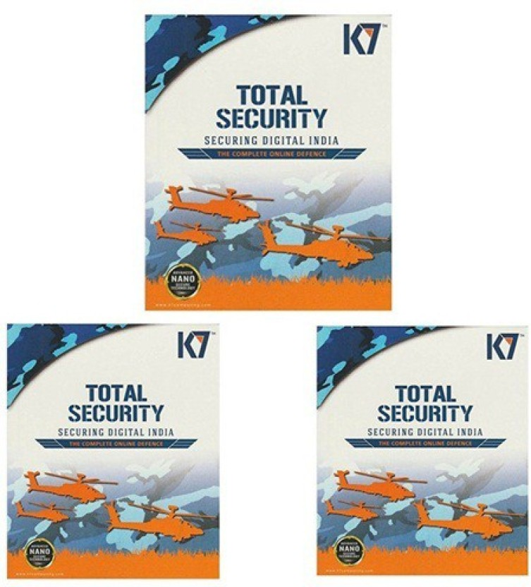 K7 Total Security 3 Pc 1 Year (3 Instalation cds & 3 Serialkeys Every key 1 Year Valid)