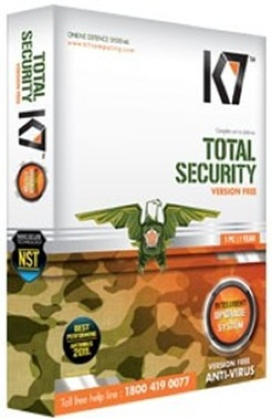 K7 Total Security 3 PC 1 Year (Activation card)