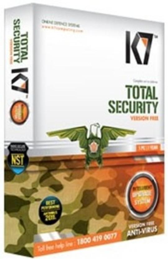 K7 Total Security Antivirus Software 1 Year 3 User
