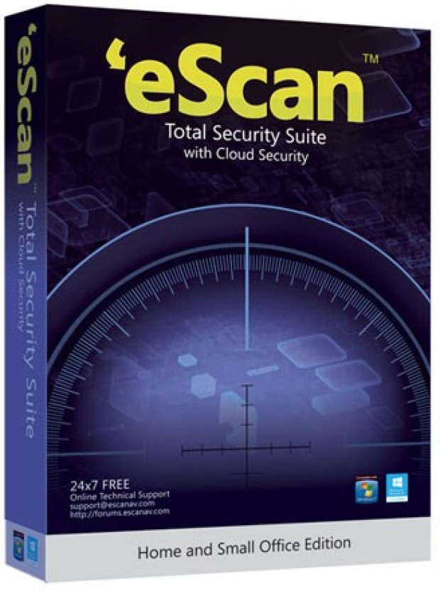 eScan Total Security Suite With Cloud Security 1 User 2 Years