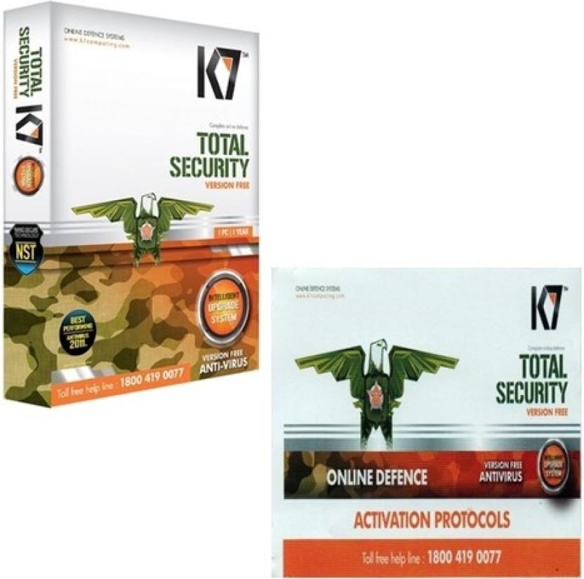 K7 Total Security 1user 1year Instalation Cd & Serial Key