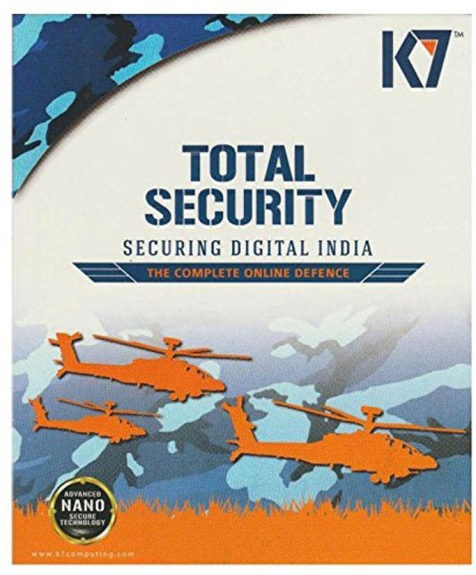 K7 Total Security 1 PC 1 Year Latest 2016 Software Cd.