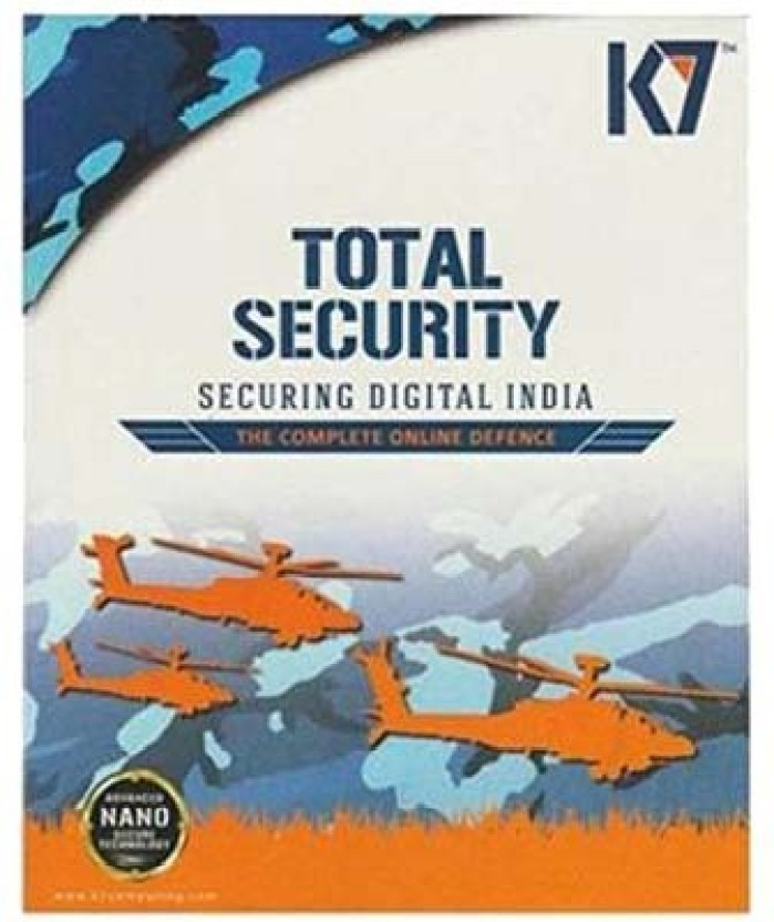 K7 Total Security 2016 1 PC 1 Year (1 Instalation Cd,365 Days Valid serial Key,You Can Use This serial key For Renewal Purpose Free Cd Cover)