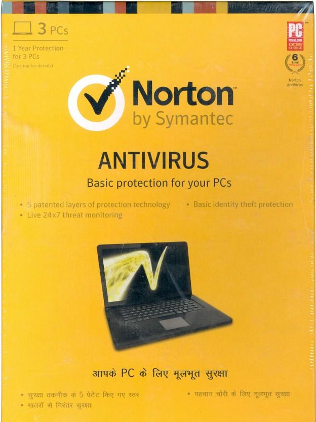 Norton Anti Virus 5 PC 1Yr 5 CD 5 Key