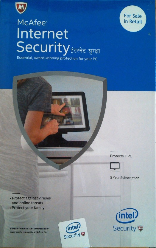 McAfee Intel Internet Security 1user 3 year